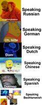 Bechturonish Language Meme