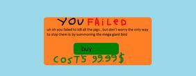 You failed