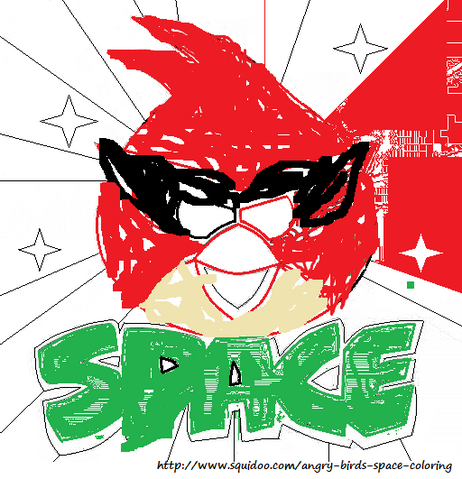 FileAngry Birds Space Coloring Pages Red Bird