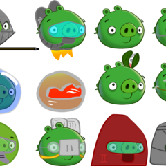 Specialized Pigs (Including Knight Pig, Jetpack Pig, Minion Pig, Piranha Pig, Hogstronaut, Ruined Pig, Planting Pig, Beaked Pig, Diver Pig, Submarine Pig, Hog Guard, and Blockade Pig