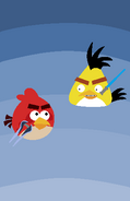 Angry Birds Flockfight - Red VS Chuck Poster