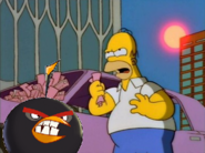Bomb y Homero enojados,la ciudad de nueva york contra Homero y Bomb