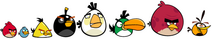 Coloured Angry Birds