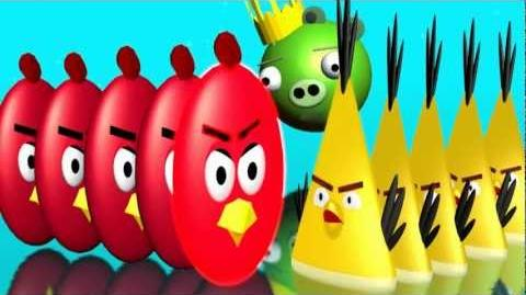 Some ANGRY BIRDS as DOMINOES ♫ 3D animated Rube Goldberg spoof ☺ FunVideoTV - Style ;-))