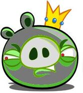 Angry metal king pig