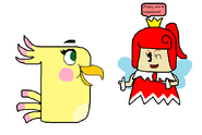 Poppy conoce la Princesa Sprixie (Hada) Roja (Angry Birds y SM3DW)