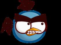 Blue lighting bird
