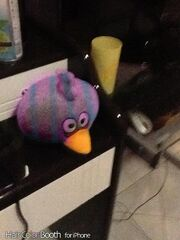 Blue and Pink Bird Plush Toy