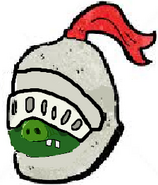 Sir knight pig