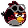 Neon Black Goggle Bird