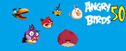 Angry birds 50 splash screen
