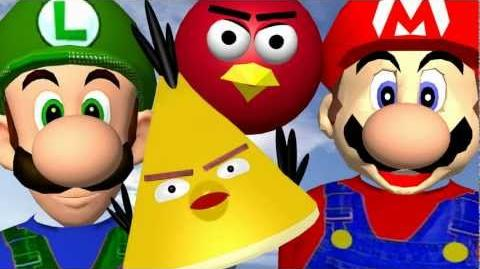 When MARIO plays ANGRY BIRDS ♫ 3D animated game mashup ☺ FunVideoTV - Style;-))