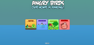 Angry Birds Our Home Is Sinking Menu