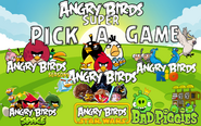 Angry Birds Super Menu