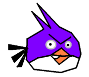 Purple bird sprite