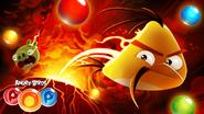 Angry Birds POP! - Poster Chuck Contra o Vulcão