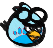 Blue Goggle Bird Sketch