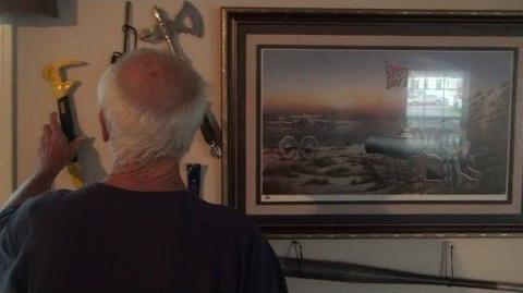 GRANDPA'S WALL OF WEAPONS!-0