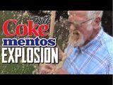 Diet Coke & Mentos Explosion!