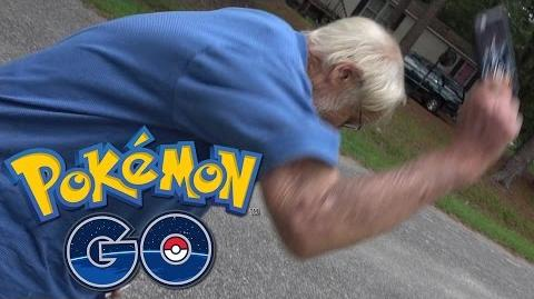 Angry Grandpa Plays Pokémon GO! (Destroys iPhone!)