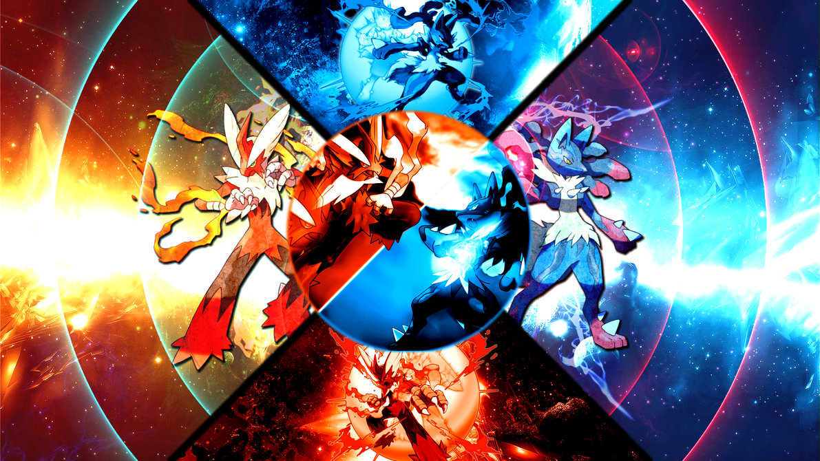 Mega Blaziken Vs Lucario Wallpaper By Fruitynite D6m2h6t