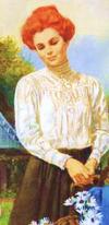 Ania w ogrodzie w Złotym Brzegu