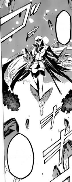 Esdeath flying using her ice