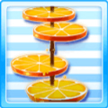 Light fruit stand - orange