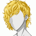 Long Wavy Wig Gold