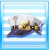 Galactic Railways Staff Hat White