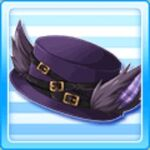 Quilted wolf hat - Purple