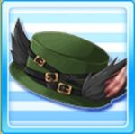 Quilted wolf hat - Green