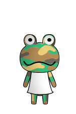 Animal Crossing VT Camofrog