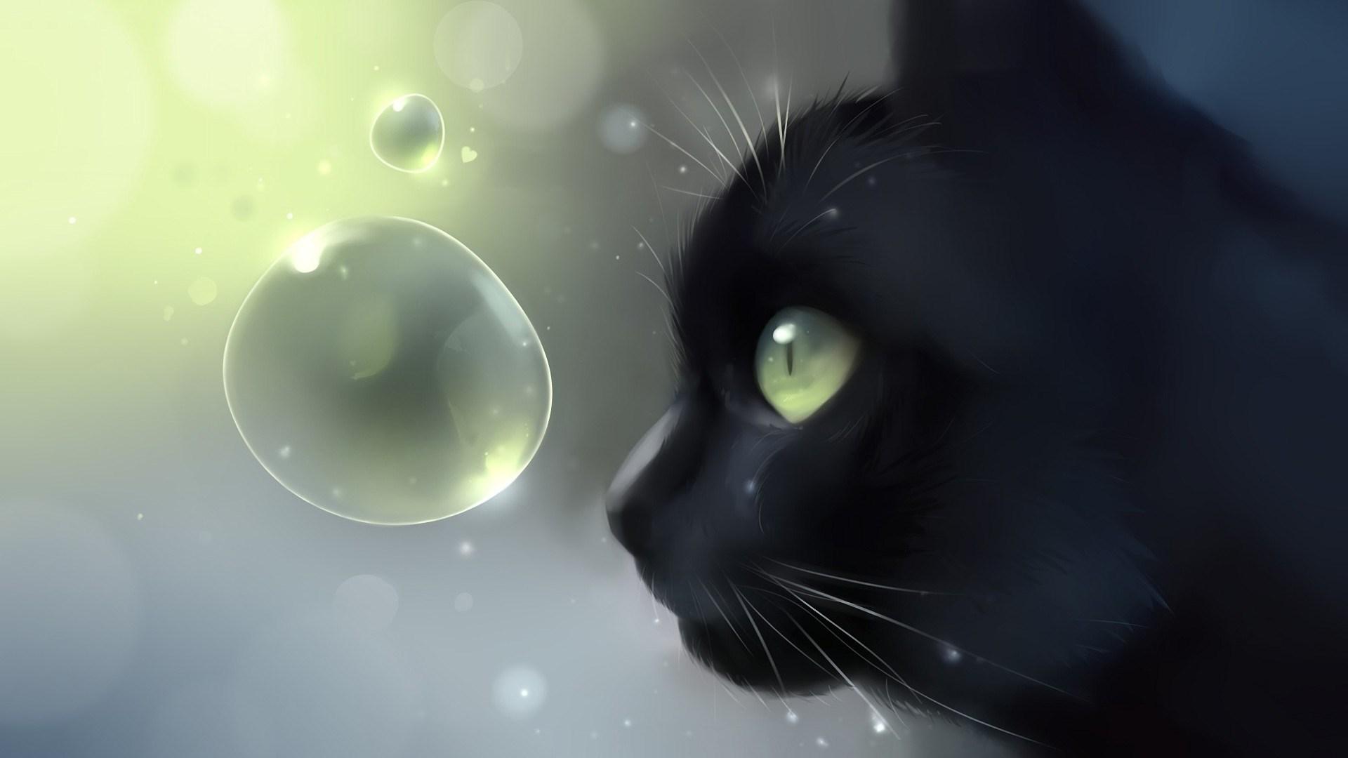 Art Cat Black Wallpaper X Jpg