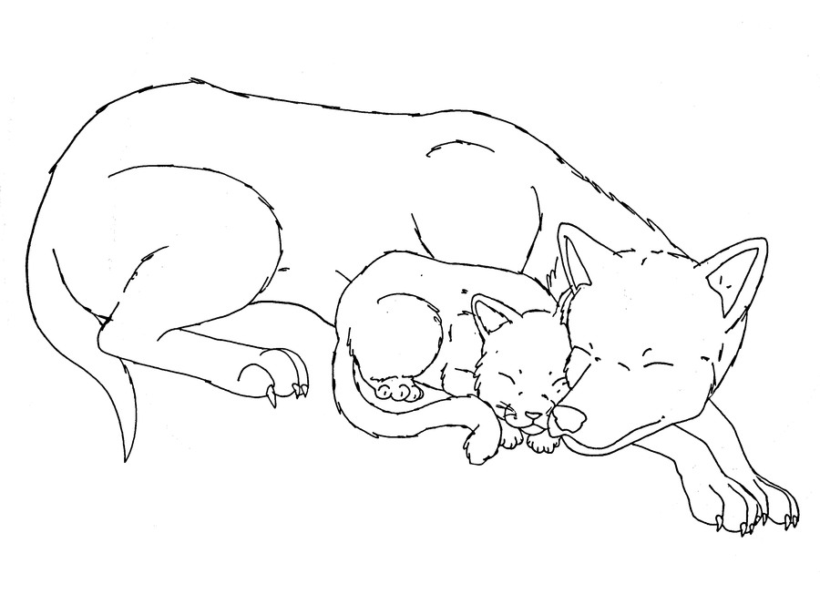 cat and dog sleeping base by midnightflaze d53gp9u png
