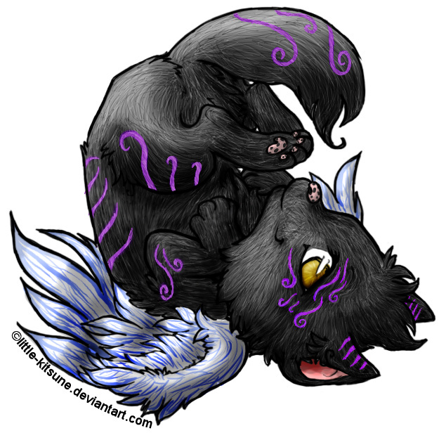 Image Winged wolf pup colored