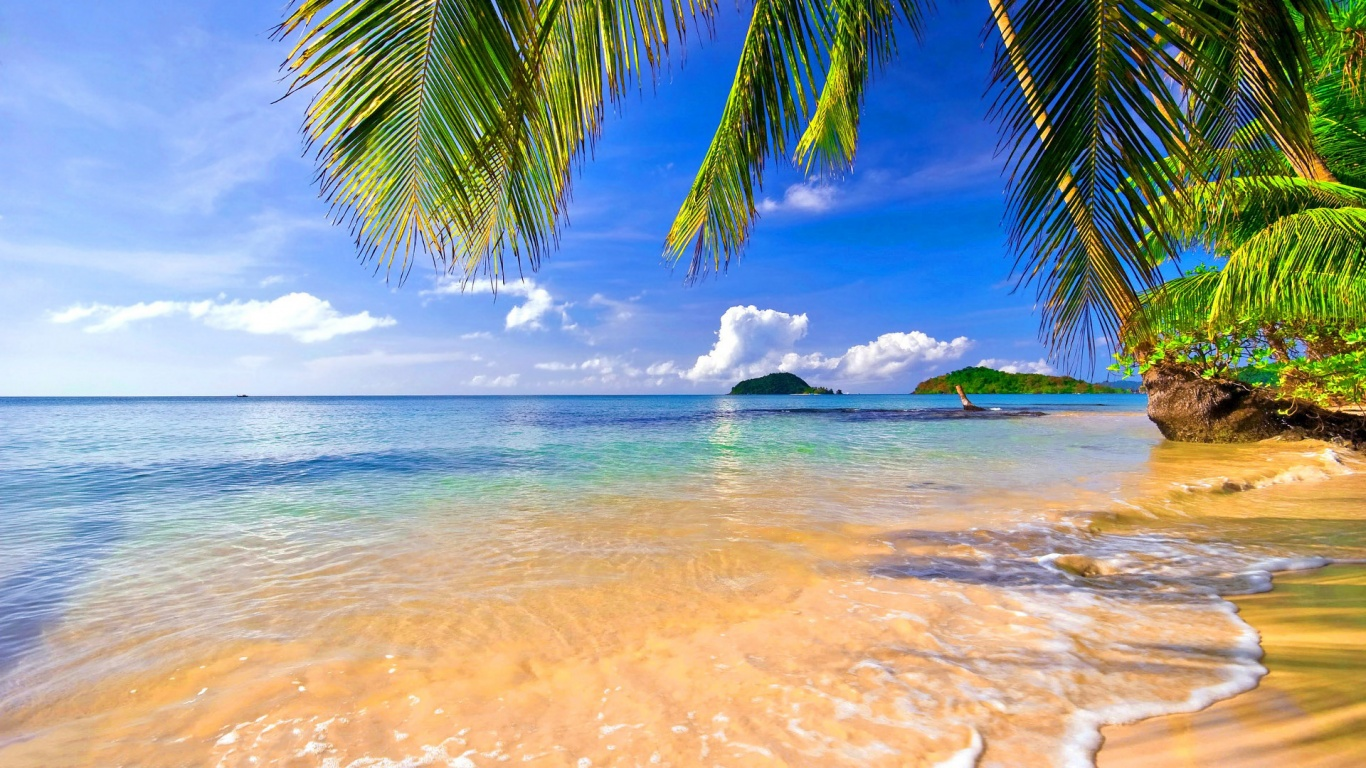 Beach Tropical Hd 1366x768