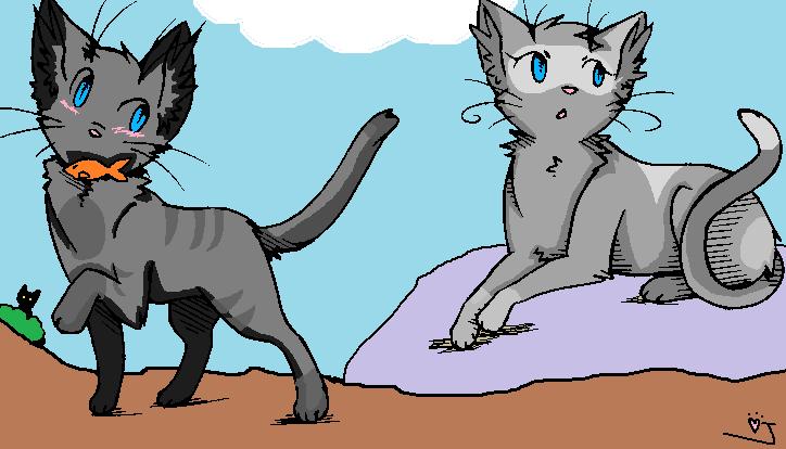 Warrior Cat Couple Base By Jaithekitteh D3k0j3d