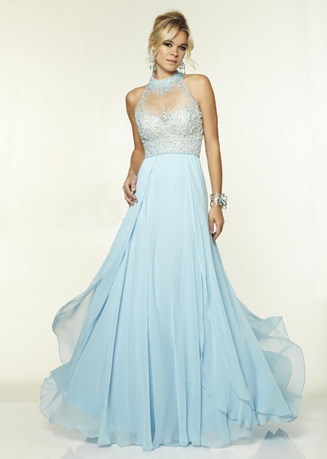Image - Light-blue-mori-lee-beaded-high-neck-long-prom-dress-mori ...