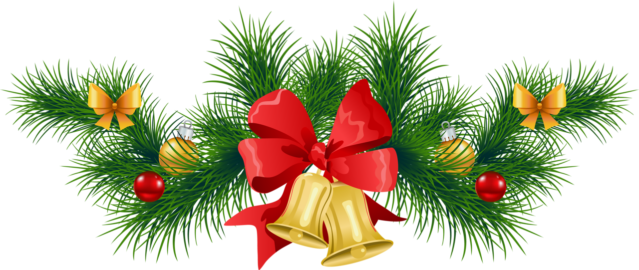 Christmas Baubles And Bells Transparent Background