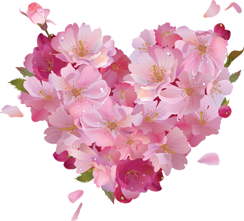 Image pink flower heart clipartg animal jam clans wiki filepink flower heart clipartg mightylinksfo