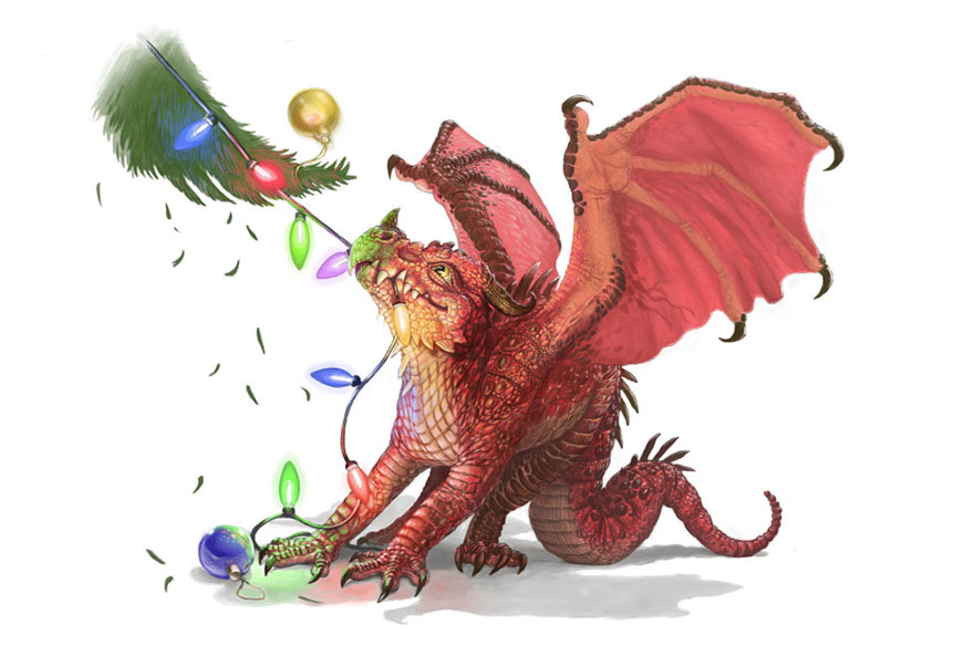 Attractive Cute Dragons Paintings Illustrations Lynton Levengood 16