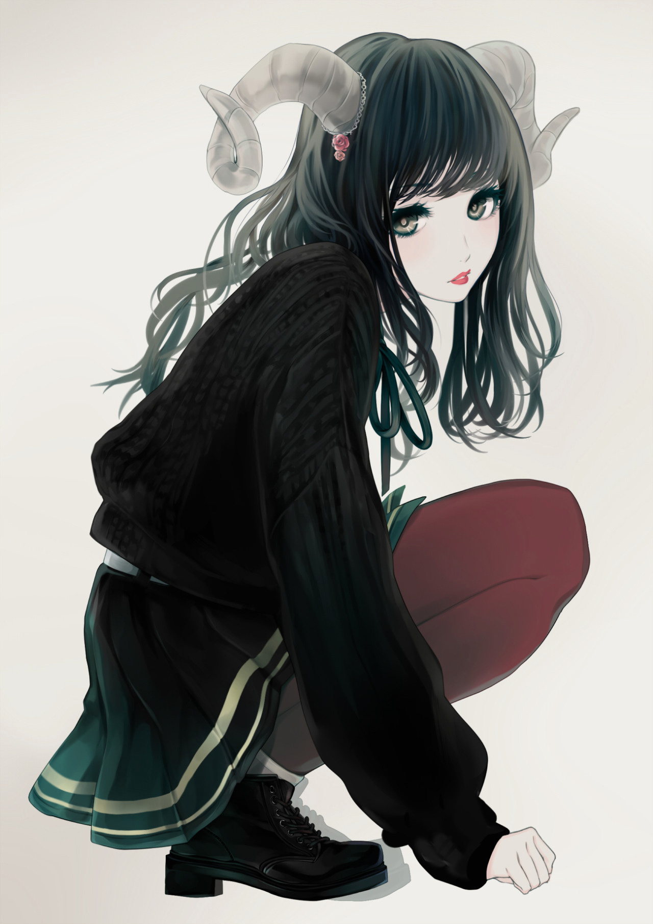 Anime girl with black hair and silver eyes awesome long haired demon of anime girl with black hair and silver eyes jpg