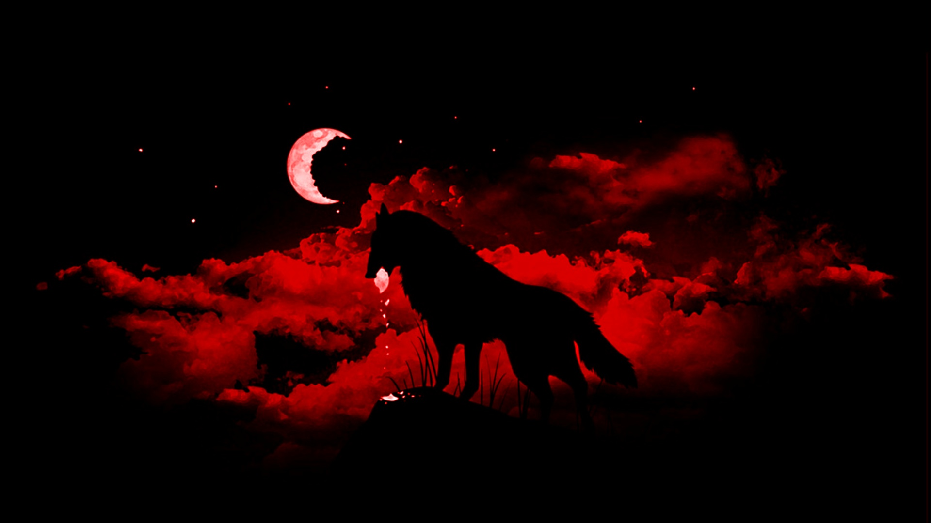 Wolf Blood Moon Desktop Hd Background Wallpapers And Images