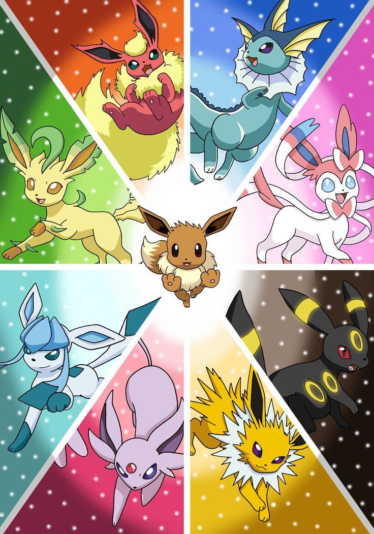 F487e74cac8b00382ba0fa18cc1e75ab Pokemon Eevee Evolutions All Eeveelutions