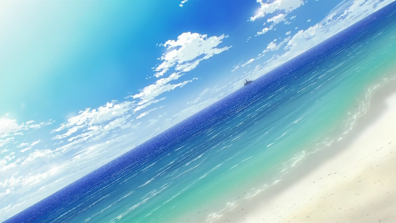 image - rinne no lagrange-05-beach-ocean-sky-wallpaper-sunny