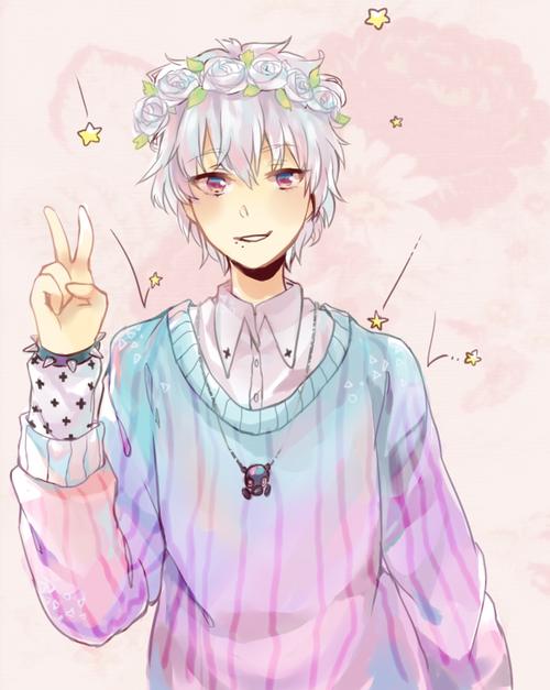Image Anime Boy Art Cute Pastel Goth Favim Com 2355774