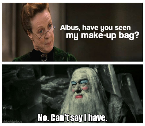 Image - Harry-potter-memes-dumbledore-makeup.jpg | Animal ... Dumbledore Vs Snape