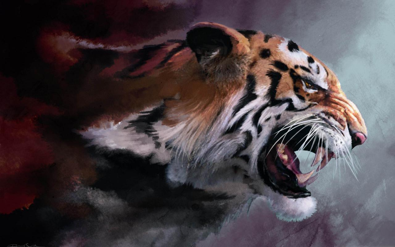 Image digital art angry tiger painting backgrounds wallpapersg digital art angry tiger painting backgrounds wallpapersg thecheapjerseys Gallery