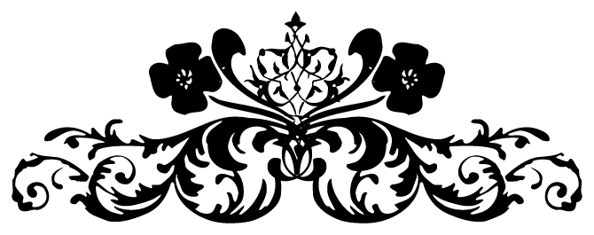Black white floral png floral tattoo 9 png